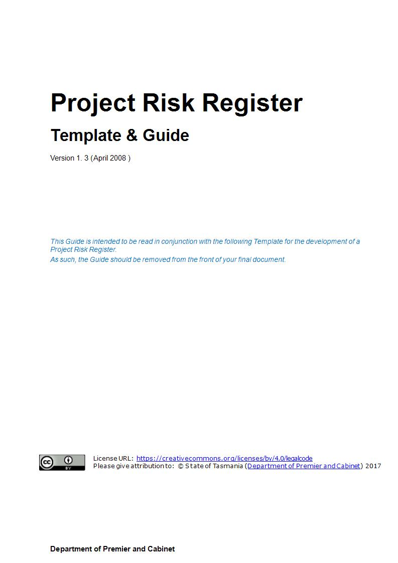 project risk register template and guide example
