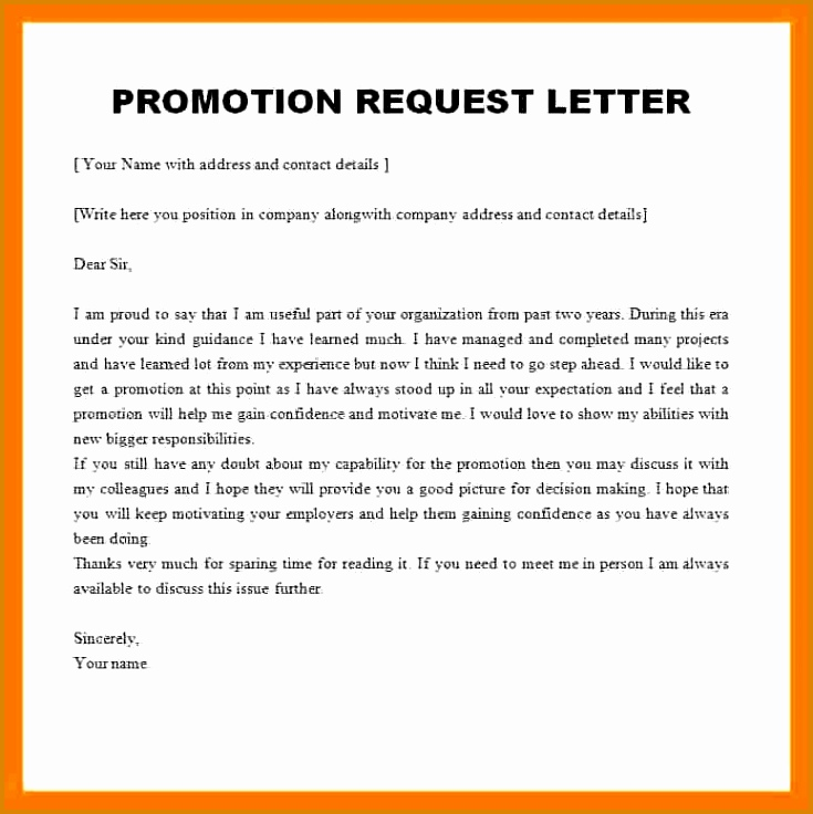 promotion sample letter format download letter format templates