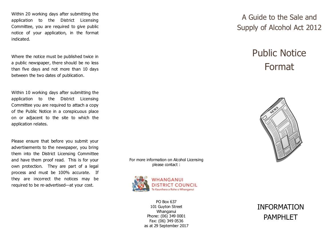 public notice format example