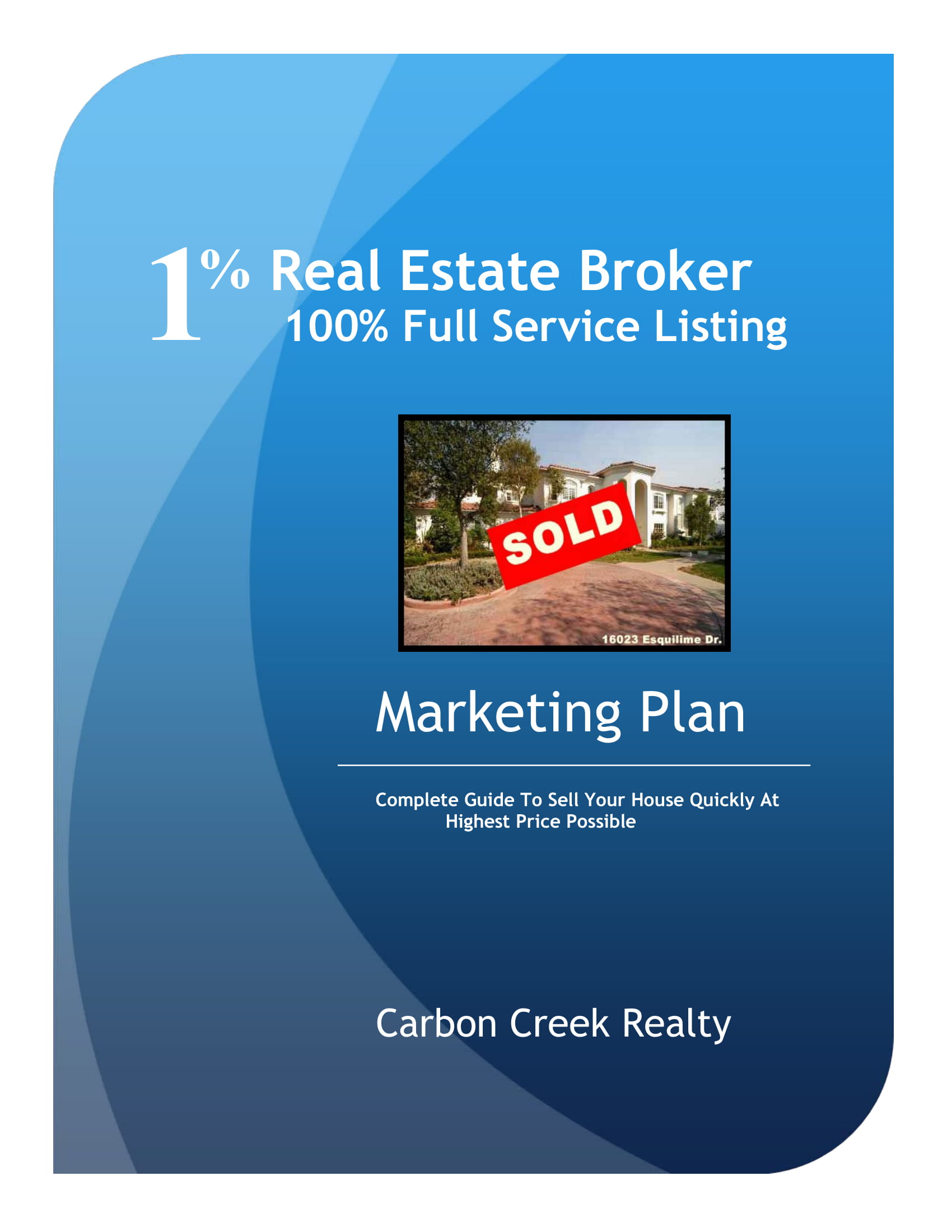 real estate broker marketing plan example 1