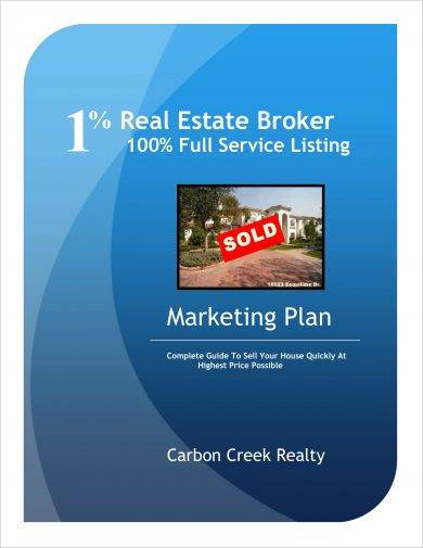 real estate broker marketing plan example