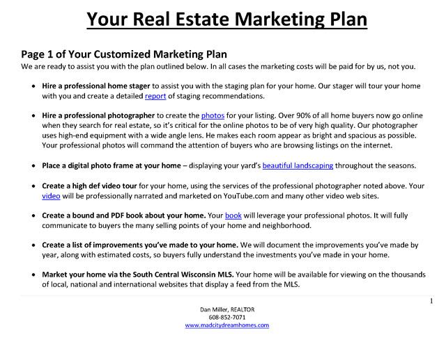 real estate marketing plan example1