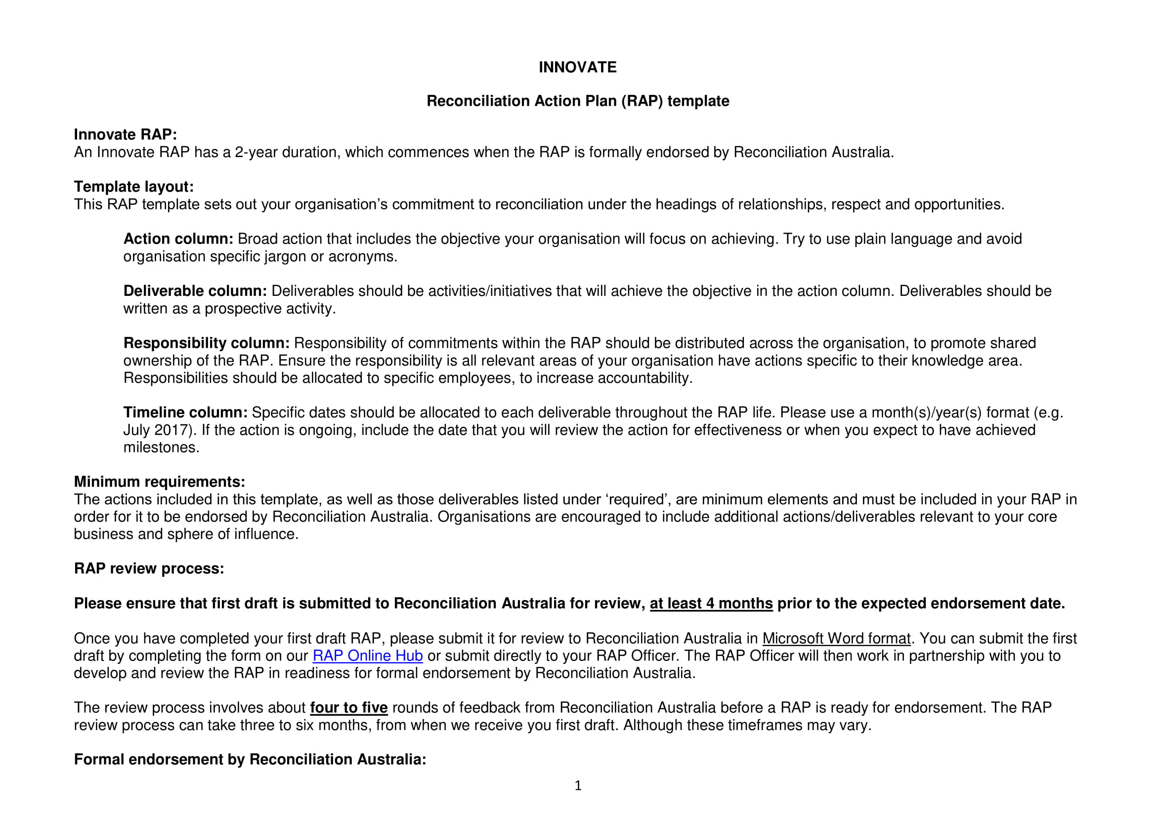 reconciliation action plan template example 01