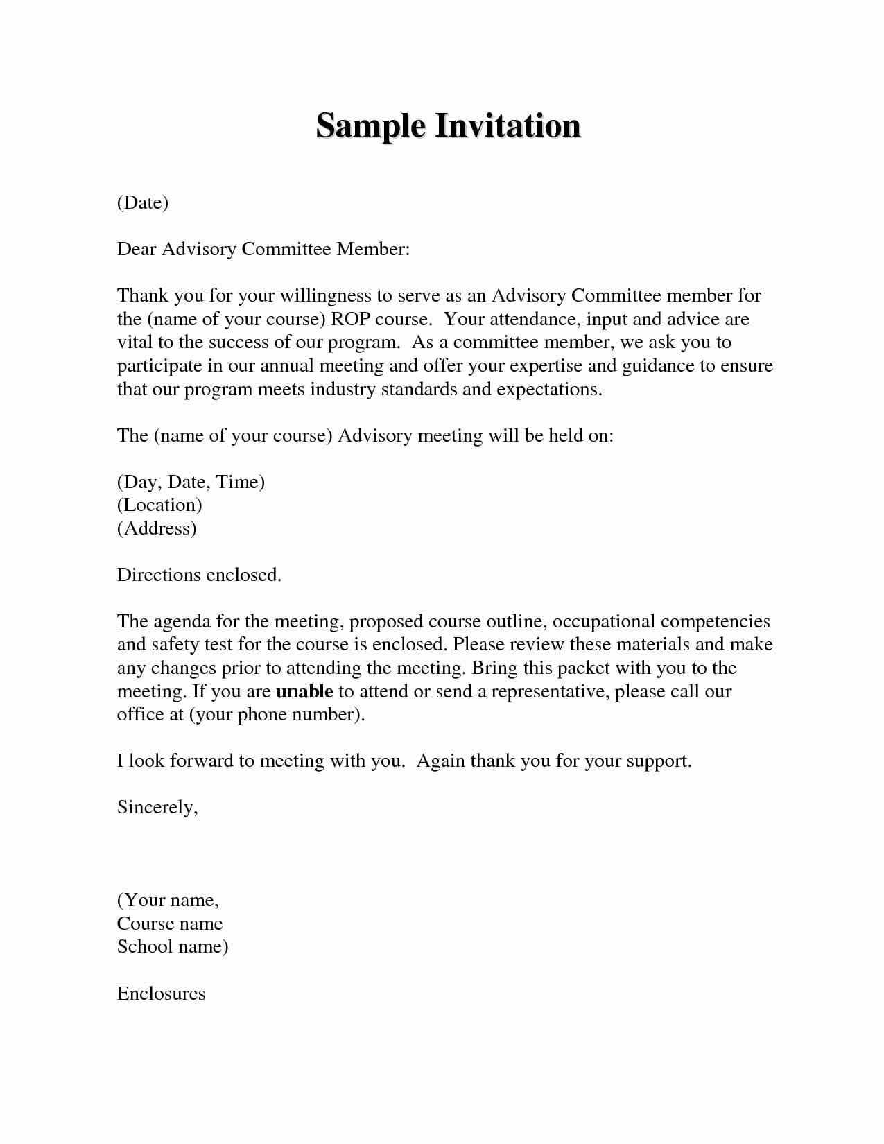 9 Official Meeting Letter Examples Pdf Examples
