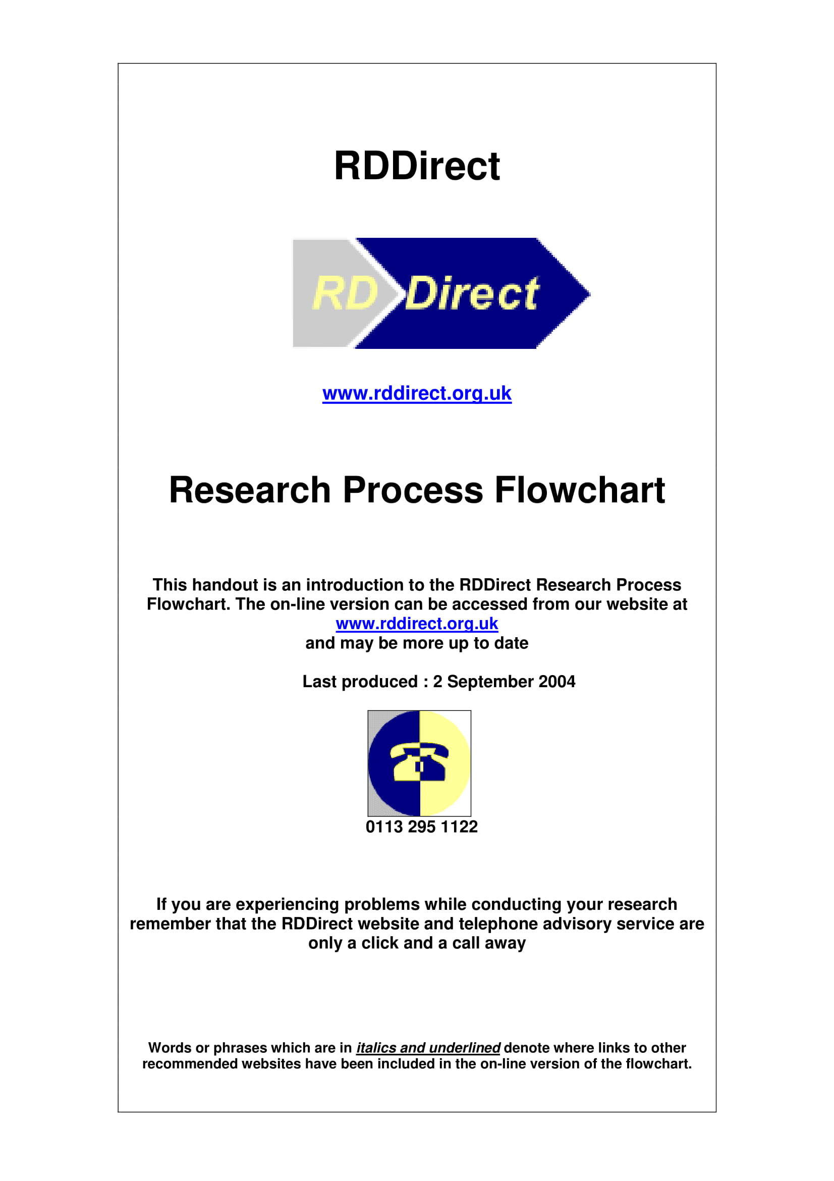 research process flow chart example