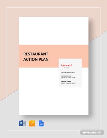 restaurant action plan template1