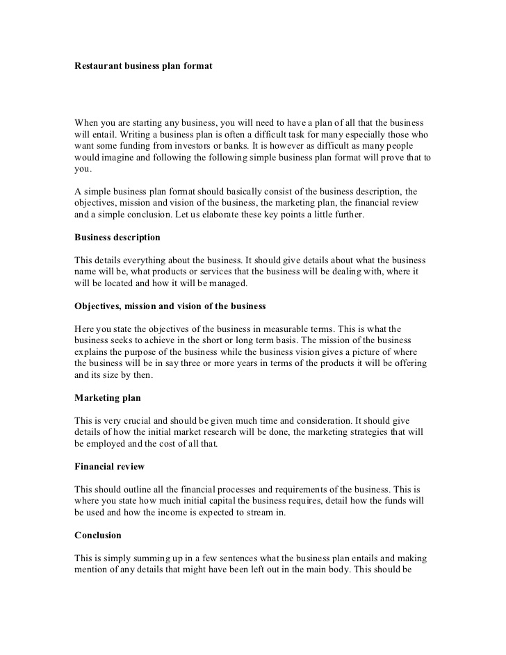 9 restaurant strategic plan examples pdf restaurant business plan format example fbccfo Gallery