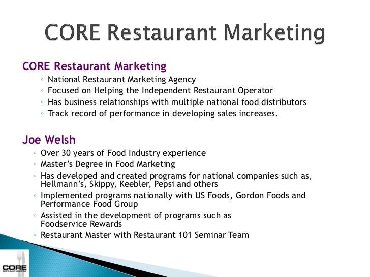 restaurant core strategies example