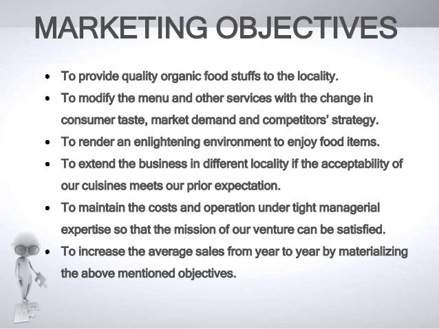 restaurant marketing objectives example
