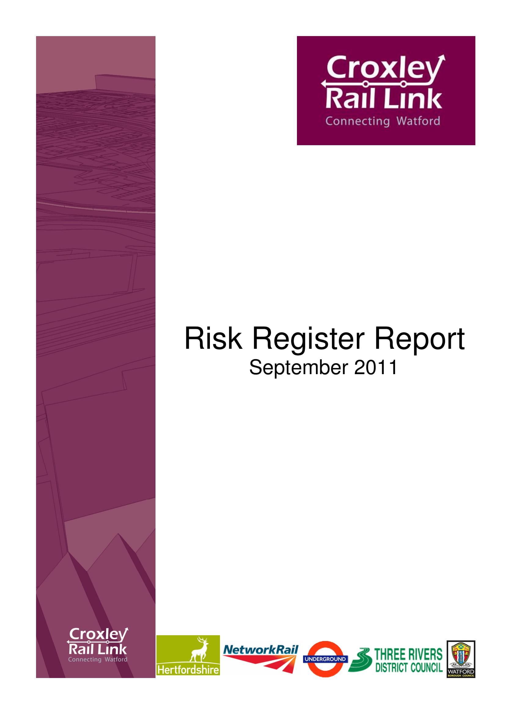 risk register report example