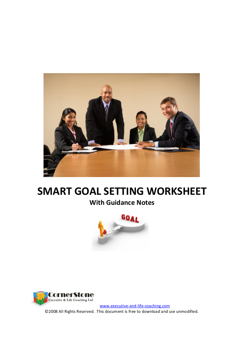 smart goal setting worksheet example