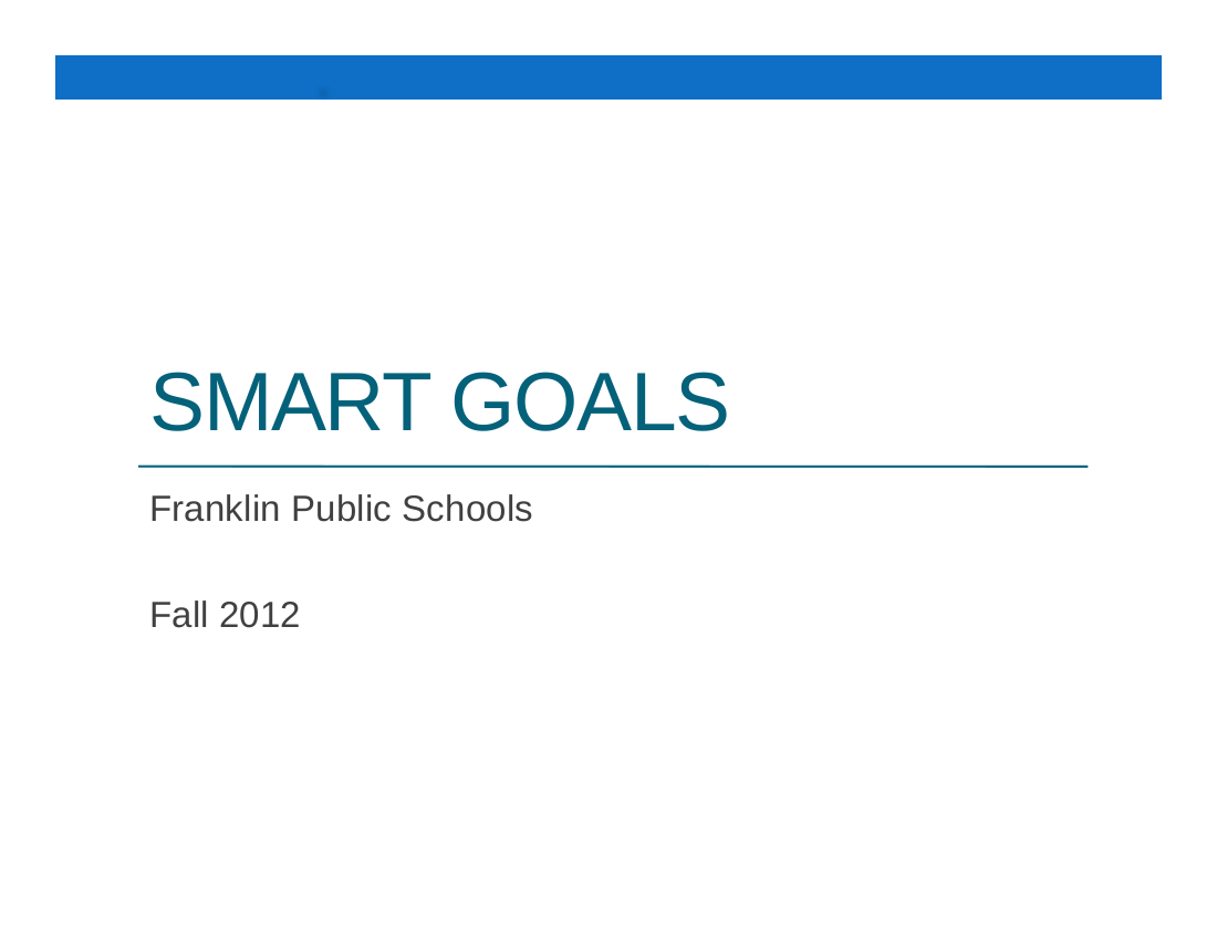 smart goals for students example