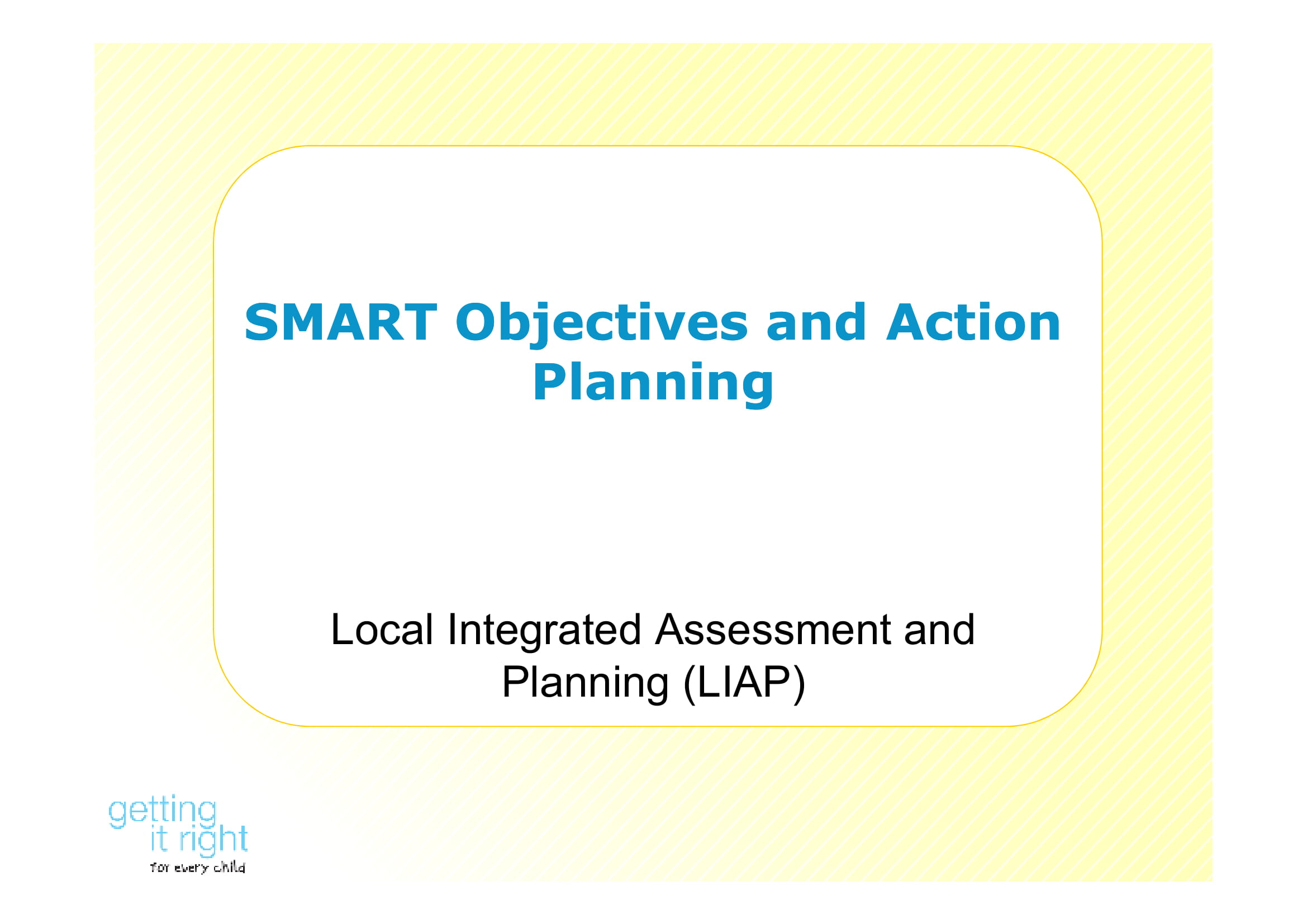 smart objectives and action planning example 01