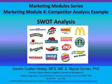 swot analysis and competitor analysis example
