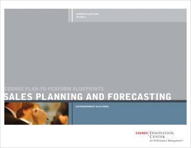 sales action planning and forecasting example