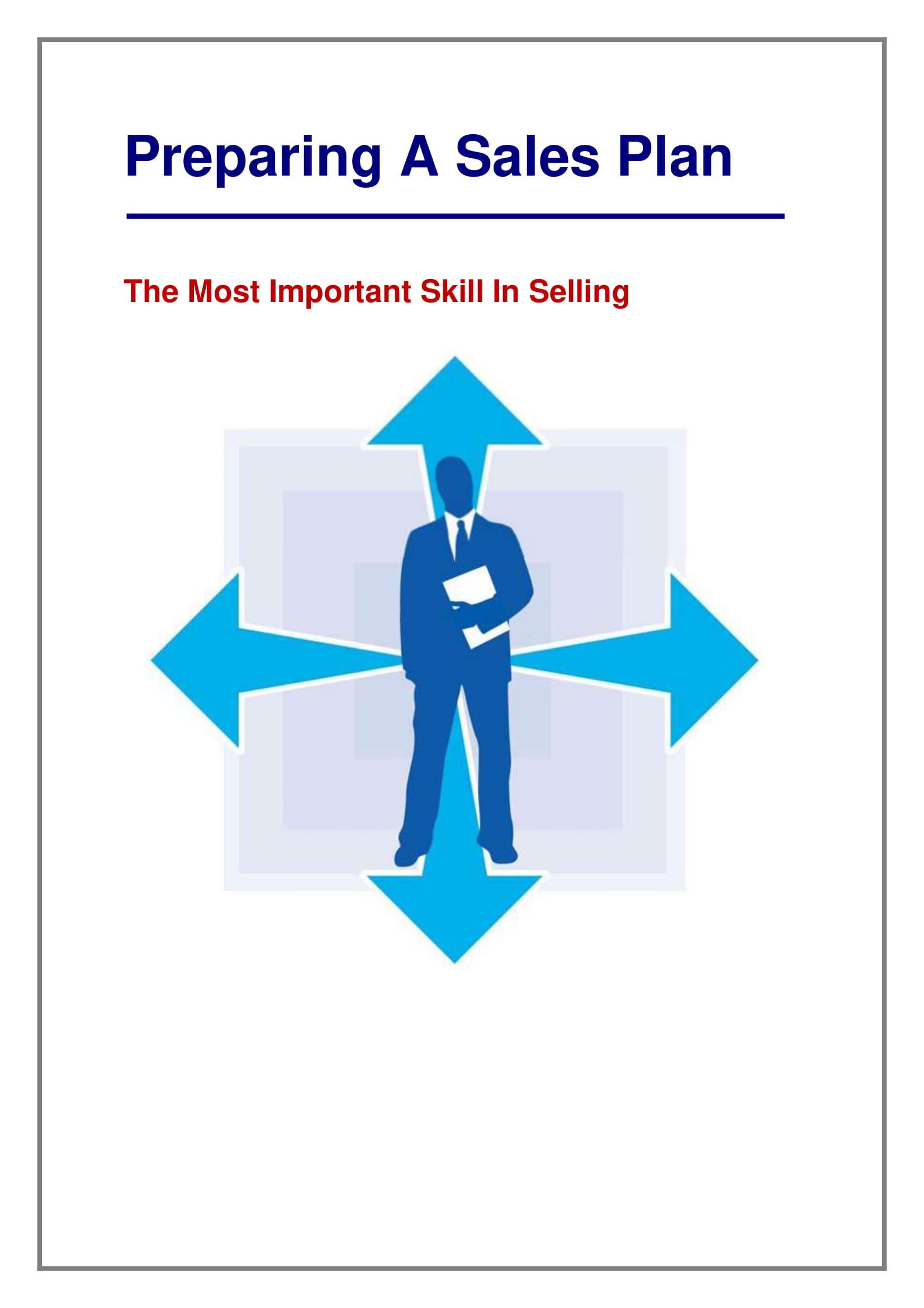 sales plan strategic preparation example 1