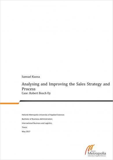 sales strategy and process planning and analysis example