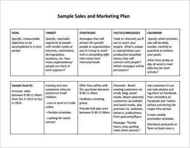 sales and marketing business plan example1