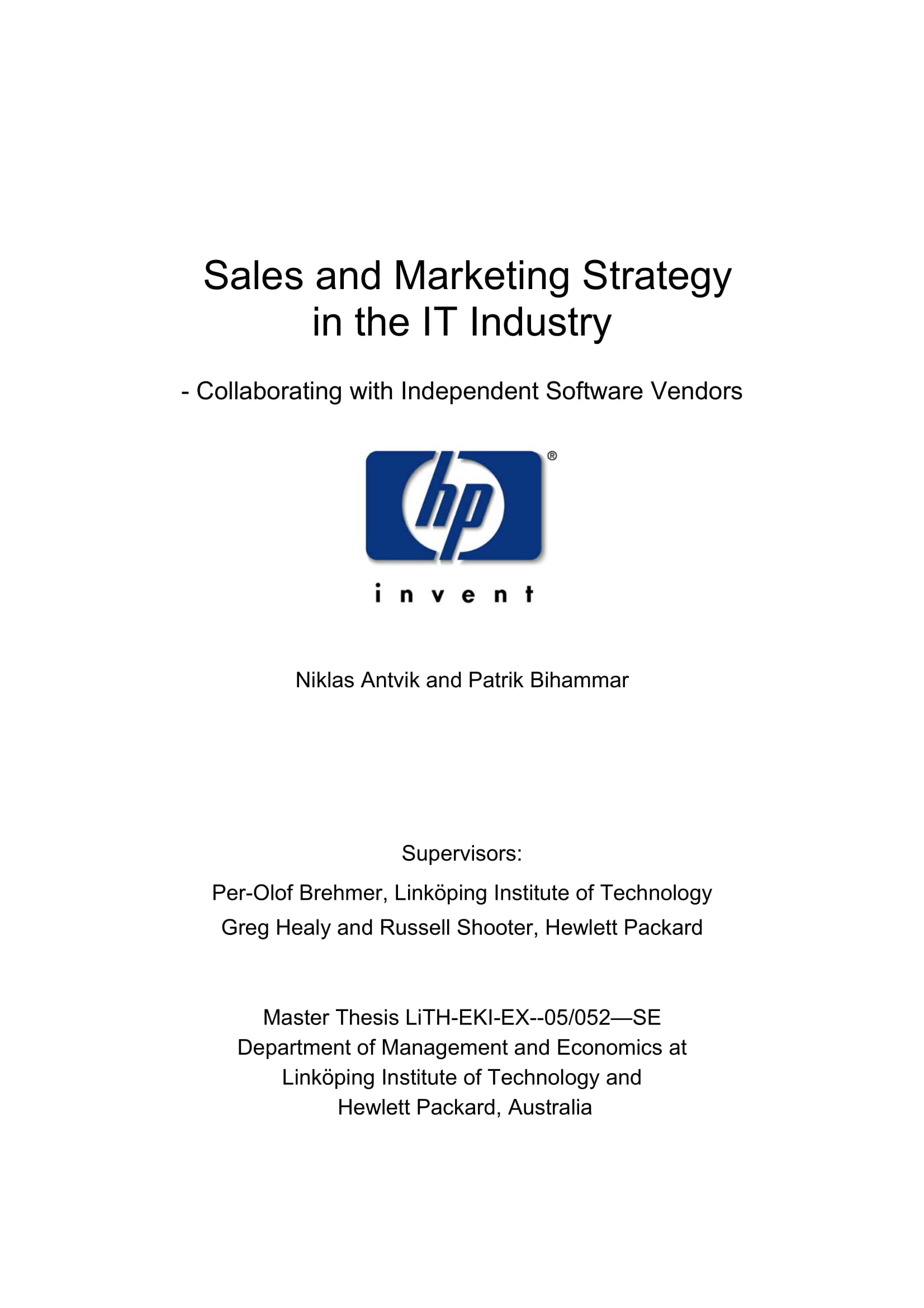 sales and marketing strategy plan in the it industry example 001