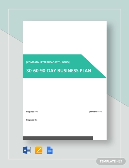 sample 30 60 90 day business plan