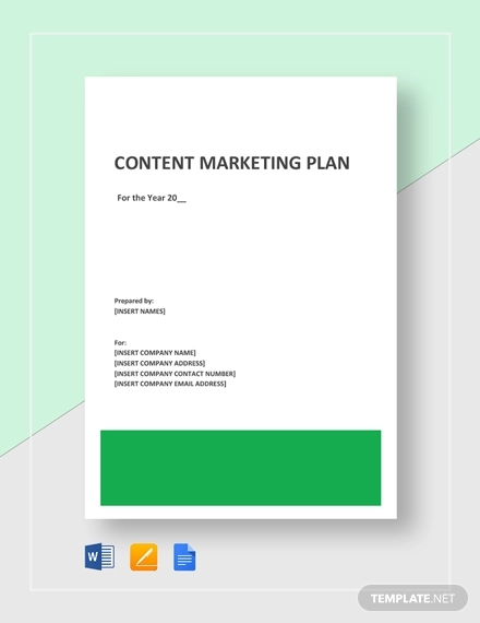 sample content marketing plan template