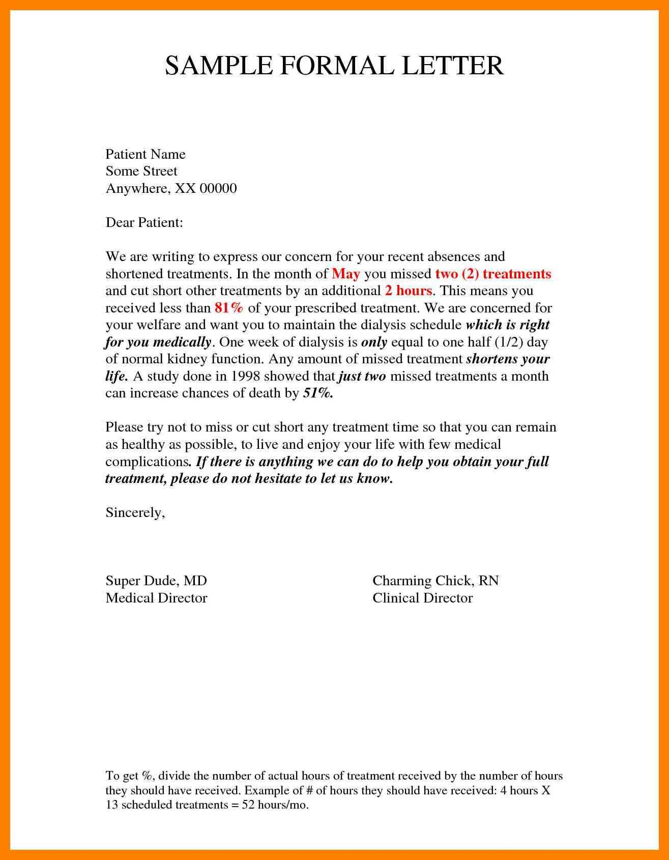 Sample-Formal-Letter Official Letter Format Example on military official, business person, job application, proper corporate, legal business,