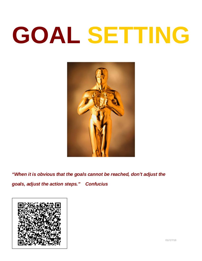 sample goal setting