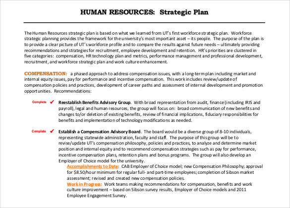 sample human resource strategic plan example