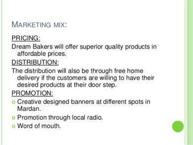 sample marketing plan of a bakery1