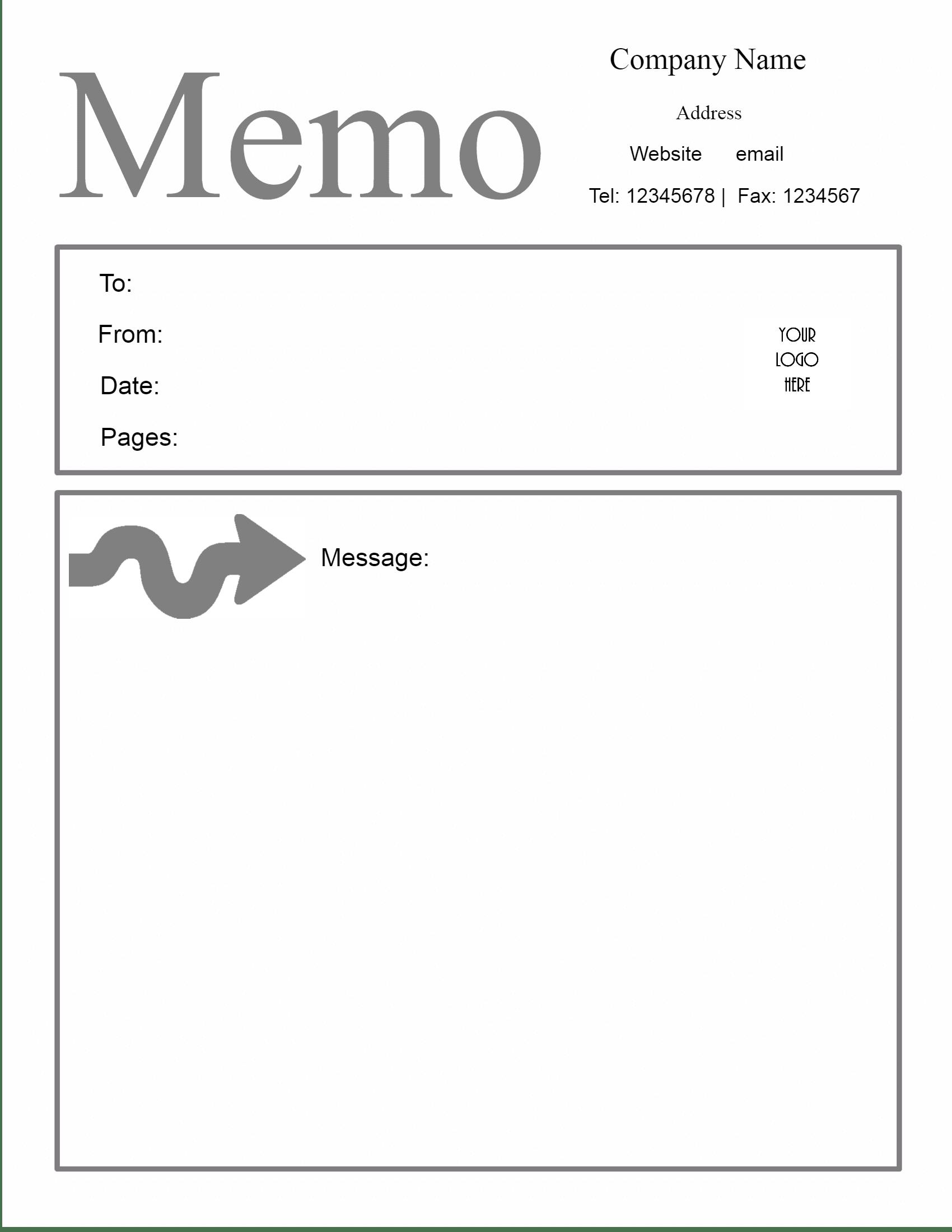 sample memo template