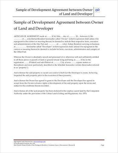 sample of development agreement1