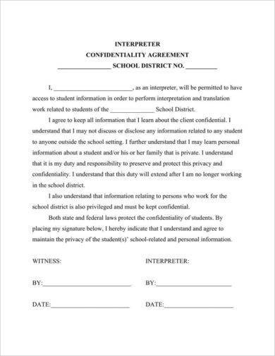 9 Teacher Confidentiality Agreement Examples Pdf