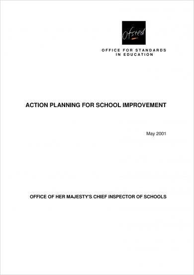 school improvement school action plan example1