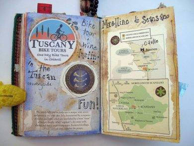scrapbook travel journal