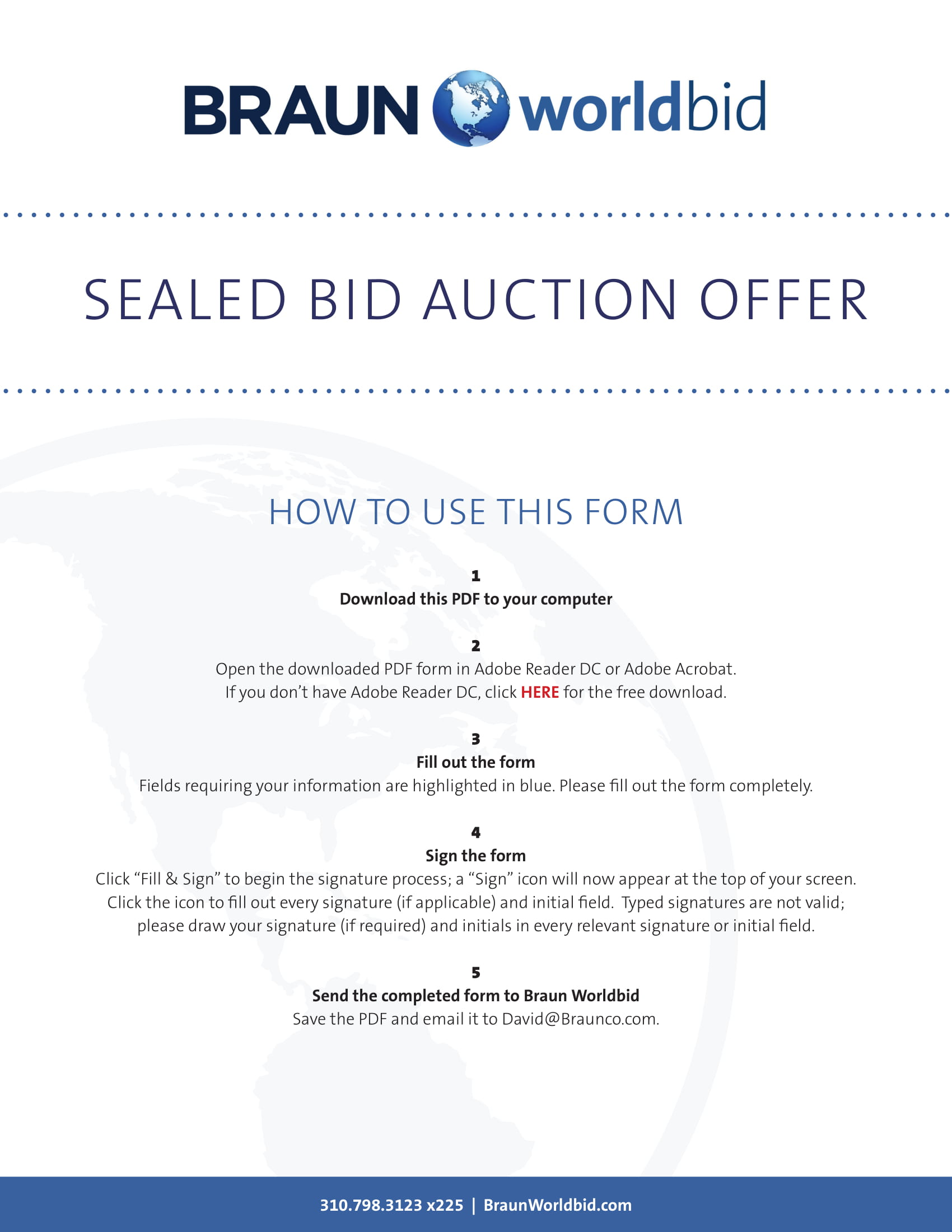 sealed auction bid form example
