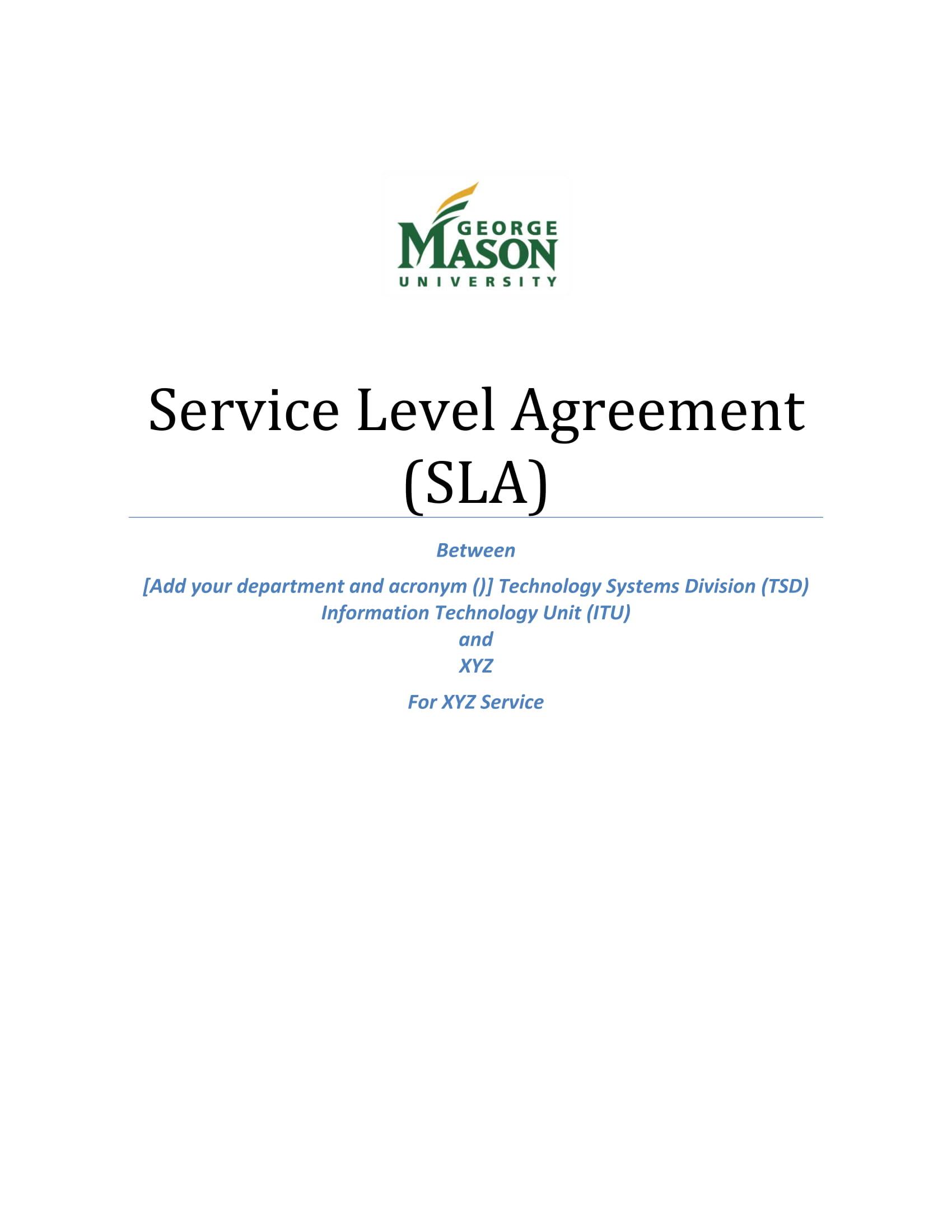 service level agreement sla example 01