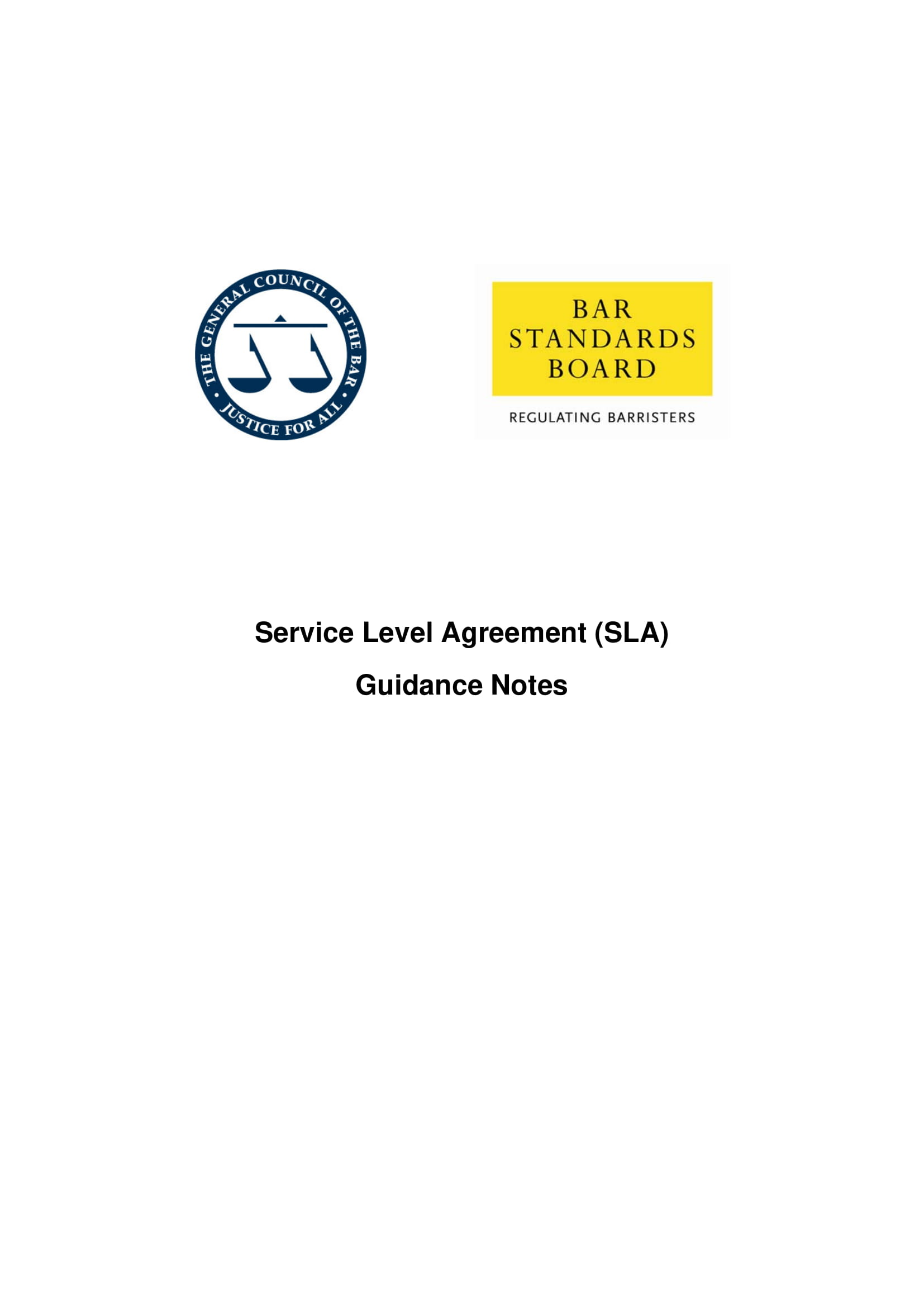 service level agreement sla guidance notes example 12