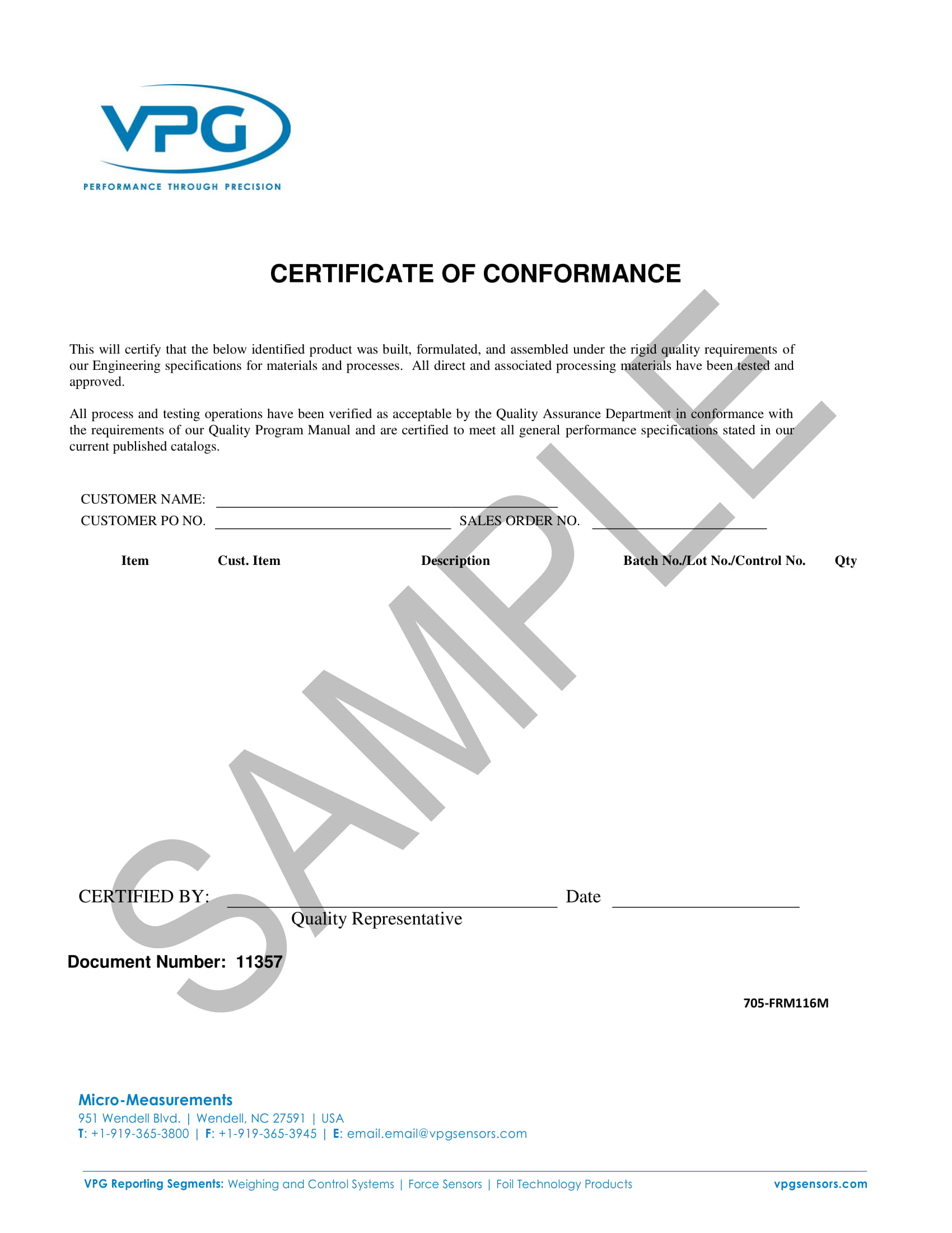 9 Certificate Of Conformance Examples Pdf