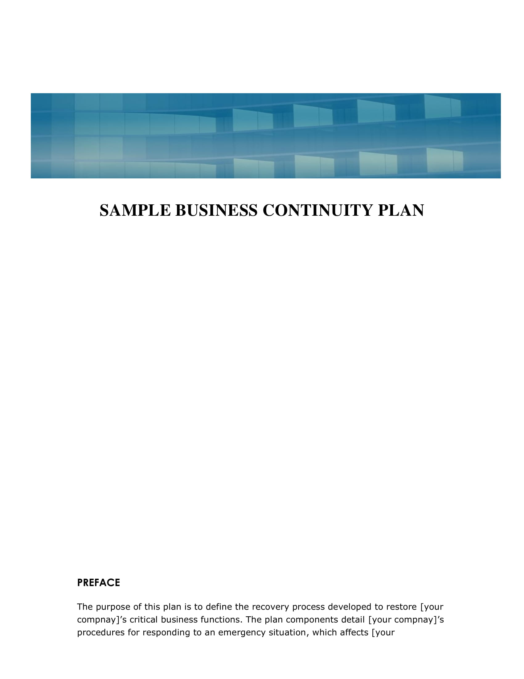 simple business continuity plan example 01