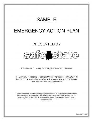 simple emergency action plan example1