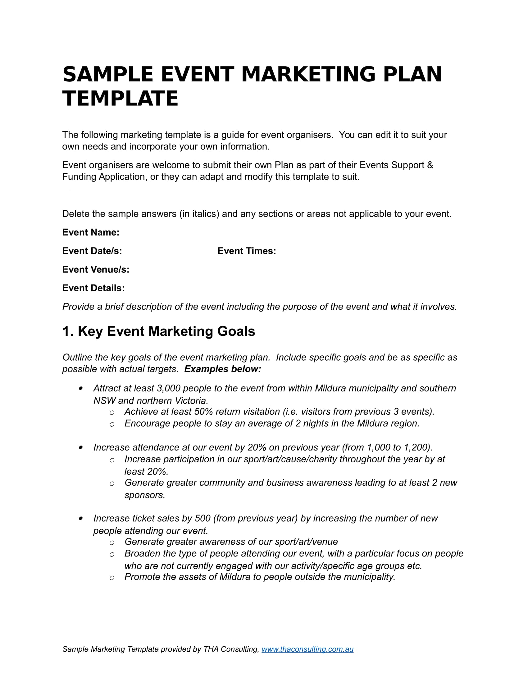 simple event marketing plan example 01