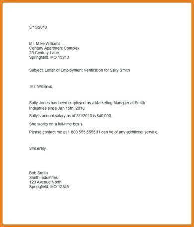 simple income verification letter example1