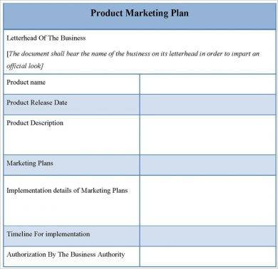simple product marketing plan example1
