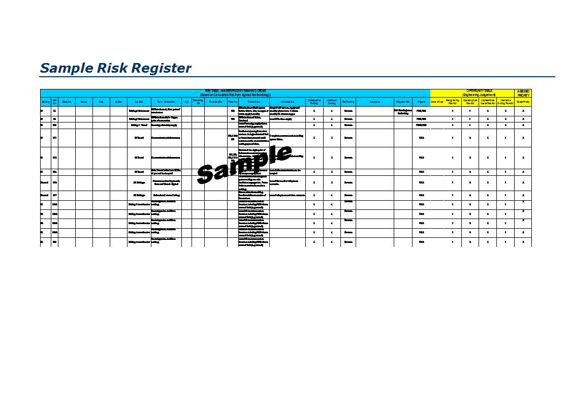 risk register template 26 risk register examples pdf doc examples 24508 | Simple Risk Register Example