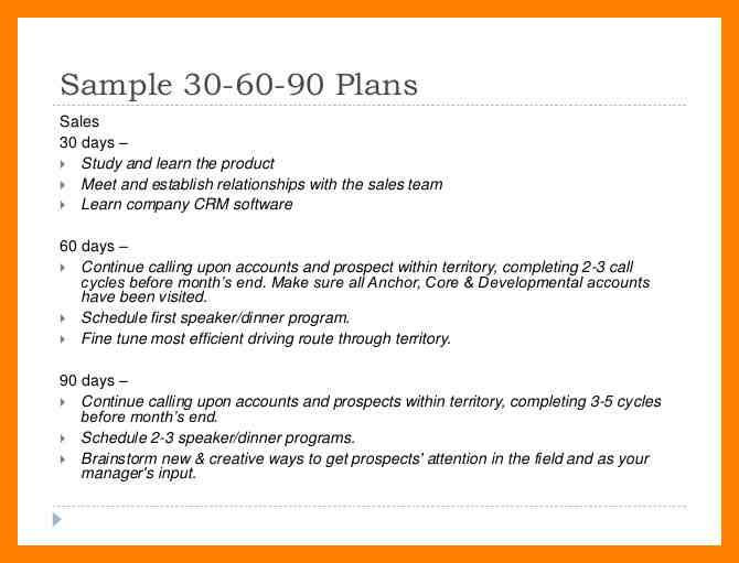 5  90-day plan for new managers examples