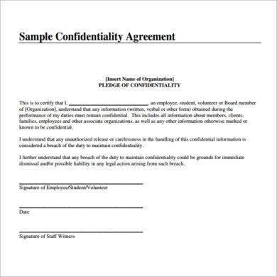 simple teacher confidentiality agreement example1
