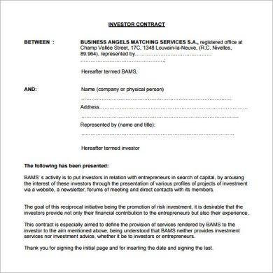 small business investor agreement example1
