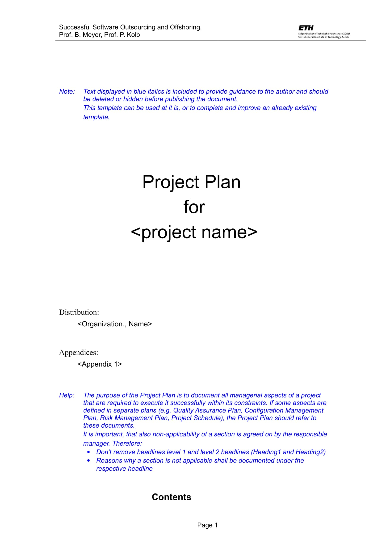software project plan examples - Monza berglauf-verband com