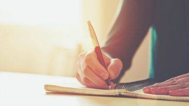 spring notebook journaling