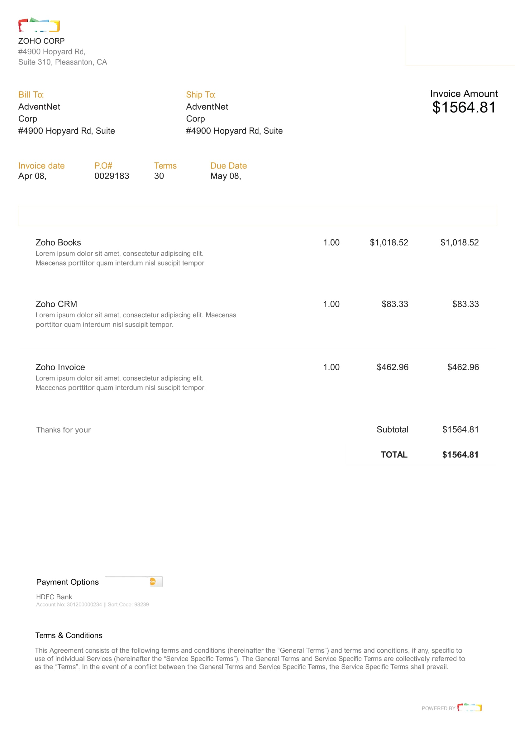 15 Blank Invoice Examples In Word